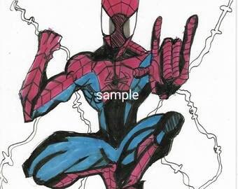 Full body Spiderman prints