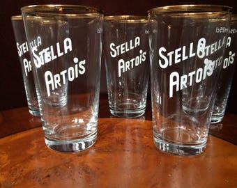 set of 5 Stella Artois glasses (known as boerkes)