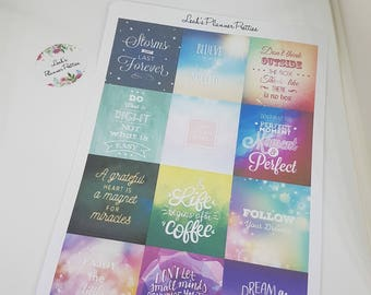 Quotes stickers// Planner quotes// Planner stickers// Quotes planner stickers//