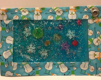 Christmas sensory bag for travel