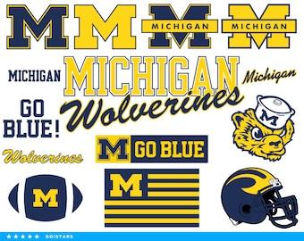 Wolverines svg – Michigan Wolverines svg – Wolverines clipart – Michigan svg – Go Blue svg – raster, vector files – svg, pdf, png, dxf, eps