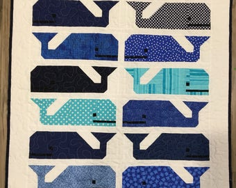 Pieced Whale Baby Quilt