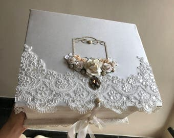 wedding box with personalize initials and luxury design