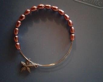 Bracelet pink with starfish