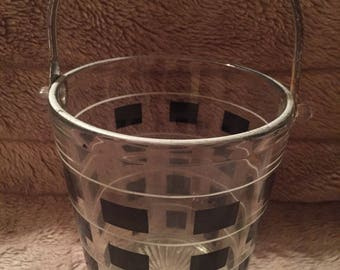 Vintage Glass Ice Bucket