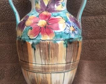 Colorful Vintage Italian Vase