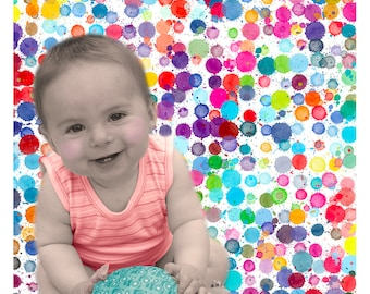 Pop Portrait - Custom Family Portrait and Custom Child portrait - Pop Art Portrait - Dripping Background