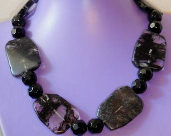 Black and opaque necklace