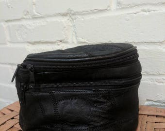 Vintage fanny pack - black leather