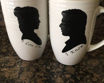 Leia and Han Solo mugs