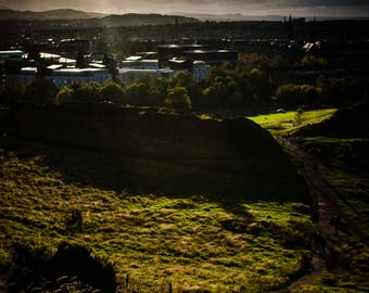 Late afternoon on Arthur's Seat, Edinburgh
