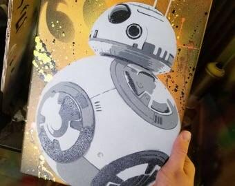 BB8 Stencil Painting