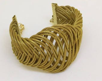 Braided Golden Grass Bracelet