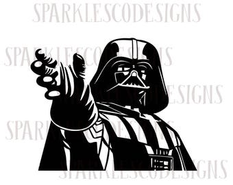 Instant Download Darth Vader SVG, Star Wars SVG, Star Wars Digital File