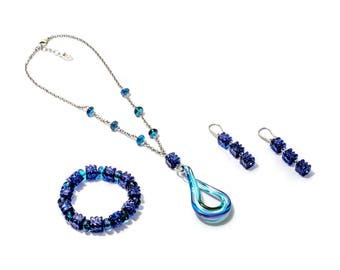 ESTER - Murano Glass Jewelry Set