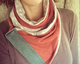 Cozy Scarf made with reclaimed materials