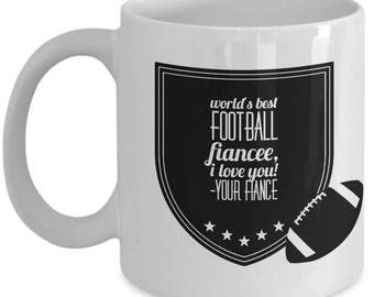 WORLD'S BEST football fiancee! Coffee Mug