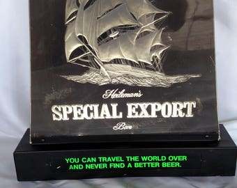 Vintage  Heileman's Special Export Beer Light