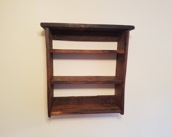 Wormy chesnut shelving