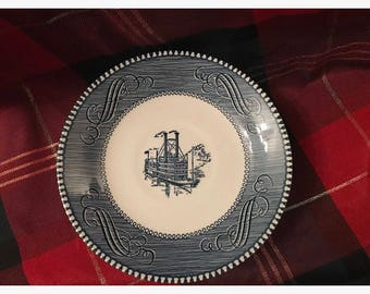 1960s Mississippi Currier and Ives Royal Ironstone Steamboat.