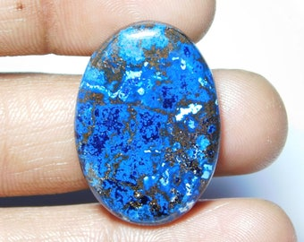 Top quality Natural Azurite Cabochon,Loose Stone,Gemstone,Gorgeous Azurite Cabochon Excellent Gemstone 100%Natural 33.65cts.(30x21x4)mm