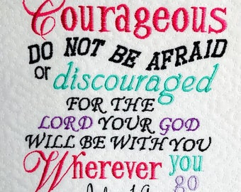 Joshua 1:9 Bible Verse- Reading Pillow Embroidery 5x7  Design and saying- INSTANT DOWNLOAD