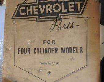 chevrolet  illustrated parts catalog four cylinder models -1940