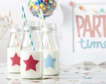 Star Party Milk Jars
