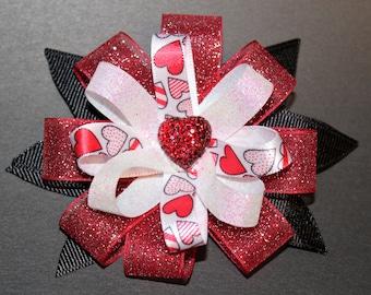 Valentine Loopy Hair Bow