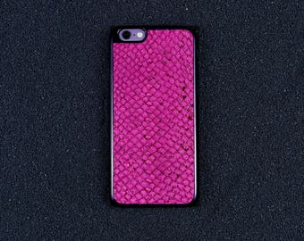 Glossy Pink Salmon Leather iPhone Case - iPhone 8/7/6S/6 - Made in Germany by Icecase