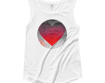 "YouJustKnow Ladies' Cap Sleeve T-Shirt ""Heart"""