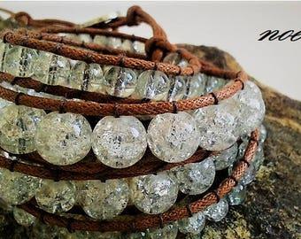 Elegant Glass Wrap Bracelet