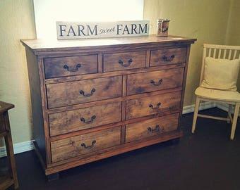 Custom Made 9 Drawer Farmhouse Dresser