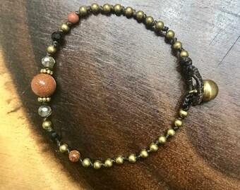 Girls Cord Bracelet with stone Venturia
