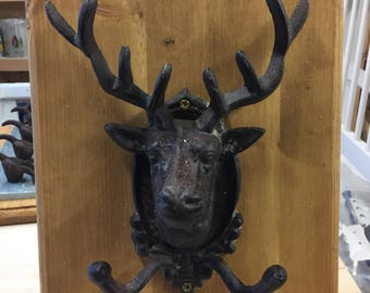 Bespoke stags head coat hook