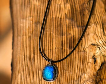 Rainbow Labradorite Sterling Necklace