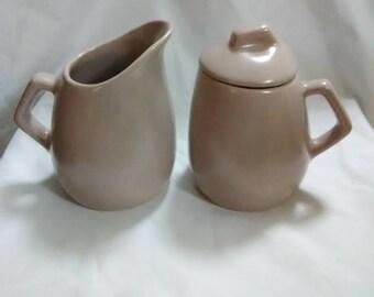 Vintage pink sugar and creamer set