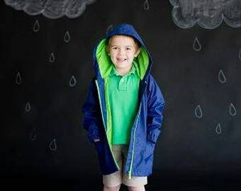 Children raincoats. Toddler and Kids Boys' Jacket. Wind-resistant. Multicolor.