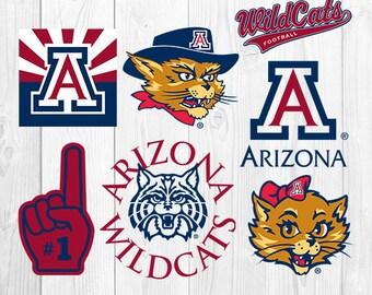 University of Arizona SVG, University of Arizona Files, UA Logo, Football Printables, Vector Image, Silhouette Cricut, S-054