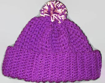 Beanie winter hat with pom pom