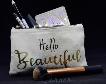 Hello Beautiful Make Up Bag / Cosmetic Bag