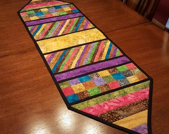 Multicolored Table Runner, 52in x 15in