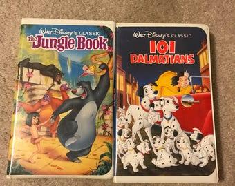 Jungle Book and 101 Dalmatians VHS Black Diamond