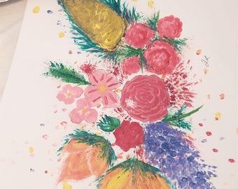 Custom Flower Painting