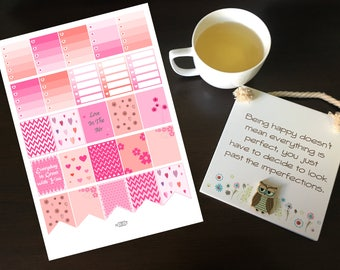 Printable Planner Stickers, Valentines Day Stickers, Anniversary Stickers, Erin Condren life planner Stickers