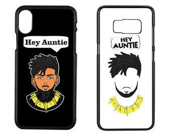 Hey Auntie, Black Panther Case, Hey Auntie Case, Erik Cace, Erik Killmonger Case, Iphone x Case, Iphone 7 Case, Samsung Case, Phone case