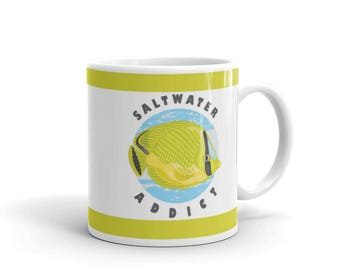 Aquarium Fish Lover Mug - Saltwater Aquarium Owner Mug - Aquarium Addict - Coffee Drink Mug