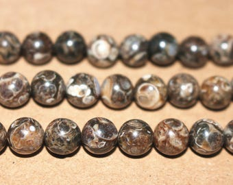 8mm Natural Retro screw stone Beads Wholesale,loose beads,semi-precious stone,15 Inches Full strand,