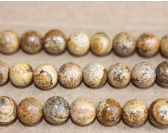 15 Inches Full strand,Natural Picture Jasper smooth round beads 6mm 8mm 10mm 12mm beads,loose beads,semi-precious stone