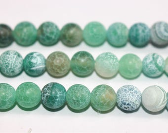 15 inches Full strand,Weathering agate,Frost Green Agate Matte smooth round beads  6mm 8mm 10mm 12mm,loose beads,semi-precious stone